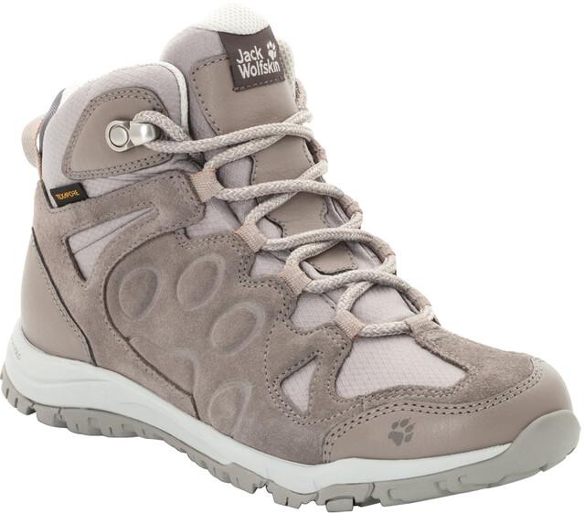 Jack Wolfskin Rocksand Texapore Mid Shoes Damen moon rock